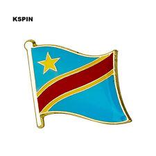 Congo Flag Lapel Pin 19 x 16mm Hat Tie Tack Badge Pin Free Shipping