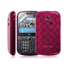 Coque étui housse en gel pour Samsung Chat 335 S3350 couleur Rose bonbon