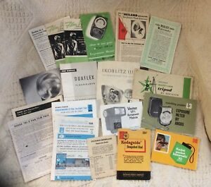Lot of 19 Vintage Photography Leaflets, Instructions, Manuals