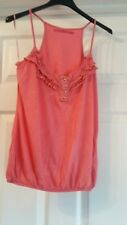 EXCELLENT CONDITION RIVER ISLAND PINK STRAPPY TOP SIZE 8