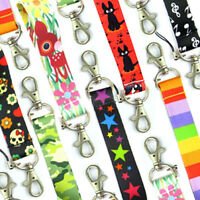 Smiley Lanyard Neck Strap with Accessories Strong Metal Clip ID Pen Holder M4