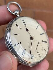 A GENTS FINE QUALITY ANTIQUE SOLID SILVER EARLY WIGAN FUSEE POCKET WATCH 1846..