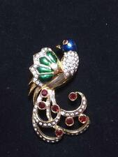 bird brooch Vintage Rhinstone