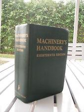 MACHINERY'S HANDBOOK BY ERIK OBERG 1970 ISBN 0831120037