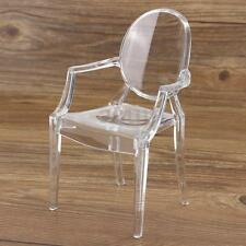 1:6 Plastic Dollhouse Miniature Barbie Arm Chair Transparent Furniture Seat Toys