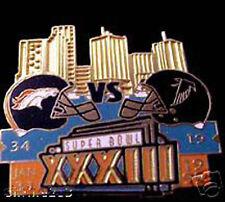 Super Bowl 33 Final Score Pin Denver Broncos vs Atlanta Falcons