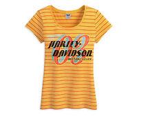 HARLEY-DAVIDSON WOMEN'S STRIPED RHINESTONE T-SHIRT 96338-13VW 2XL