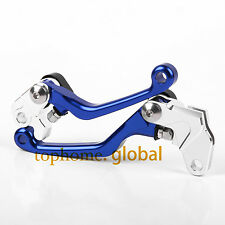 Fit Yamaha YZ80 YZ85 2001-2014 Pivot Clutch Brake Levers Blue 09 2011 2012 2013
