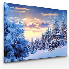 Leinwand-Bilder Wandbild Canvas Kunstdruck Wald im Winter
