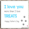 Funny Fathers Day Card from the Cat or Best Dog Daddy Cat Dad Father's Day Card