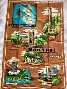 New Vintage Tasmania Hobart Pure Linen Marie K Muller Souvenir Tea Kitchen Towel