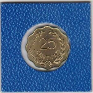25 centimos Paraguay 1953 sitzender Löwe seated lion with liberty cap on pole