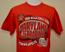 Vintage 2001 Maryland Terrapins Final Four t-shirt red large Ncaa basketball