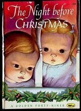 THE NIGHT BEFORE CHRISTMAS ~ Eloise Wilkin ~ Little Golden FORTY-NINER Book