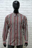 Camicia LERROS Uomo Taglia Size XL Maglia Shirt Man Cotone a Righe Regular Fit