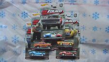 HOT WHEELS 2016 CAR CULTURE HW REDLINERS 5 SET DODGE CAMARO +3 CASE NEW IN STOCK