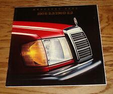 Original 1984 Mercedes Benz 190E 2.3 190D 2.2 Deluxe Sales Brochure 84