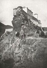 D0926 France - Corsica - Corte - Veduta - Stampa antica del 1929 - Old Print