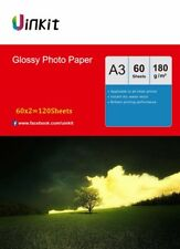 A3 High Glossy Photo Paper Inkjet Paper Printer 420x297 180G - 120 Sheets Uinkit