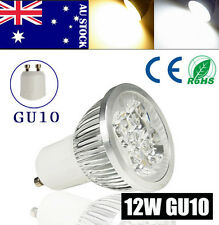 10pcs GU10 12W 4X3W Cool White LED Light Downlight Bulb Lamp Spotlight 85-265V