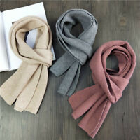 Women Men Thick Long Double-sided Warm Scarf Winter Knitted Scarves Long Shawls