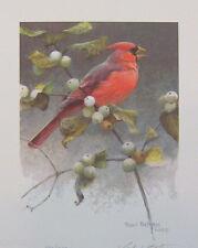 Robert BATEMAN Cardinal & Snowberries LTD art print MINT Artist Proof