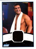 WWE Alberto Del Rio 2012 Topps Authentic Event Worn Shirt Relic Card Black