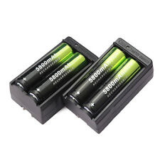 4pcs 5800mAh 18650 Rechargeable Battery Li-ion 3.7V Batteries + 2pcs Charger USA
