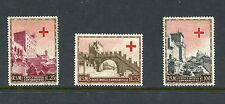 San Marino, Scott 305-07 307 Red Cross Set, Mint Hinged with Toning