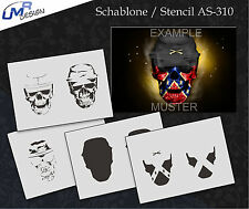 Step by Step Airbrush Stencil AS-310 M ~ Template ~ UMR-Design