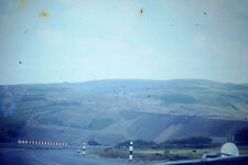 Vintage Agfacolors Slide Negative, Sunny Day Hill View and Curved Road Photo