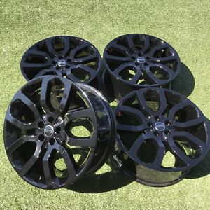 22 RANGE ROVER SUPERCHARGED RIMS SPORT LAND ROVER HSE BLACK WHEELS OEM FACTORY