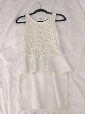 White ruffle crochet dress size 8 REDUCED