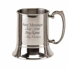 More details for personalised engraved 20oz pint stainless steel tankard, any message engraved