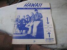 1963 Beach Boys Hawaii sheet music - scarce Australian only issue
