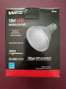 Satco S9426 13w PAR30L LED Dimmable 3500k Spot Bulb - 75w Replacement
