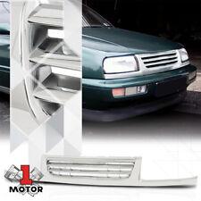 For 1996-1998 VW Jetta MK3 {HORIZONTAL-BAR} Chrome ABS Front Upper Bumper Grille