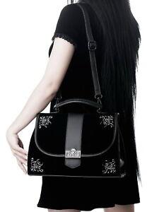 KILLSTAR Moonlight Satchel Bag Purse Velvet Ornate Black Gothic RARE NWT Womens