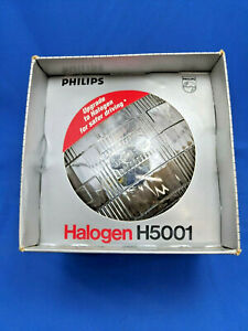 New Philips H5001 Round Halogen Headlamp C-6 12V 50W, 2 lug, high beam.