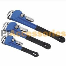 "3 Pcs Adjustable Heavy Duty Heat Treated Soft Grip Pipe Wrench Set 10"" 12"" 14"""