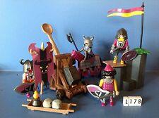 (L178.1) playmobil chevalier et soldats du taureau