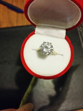 Gold Simulated Fine Diamond Rings