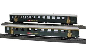 PIKO 96790 H0 2-tlg. Personenwagenset EW I der SBB, Epoche IV, (AC) #NEU in OVP#