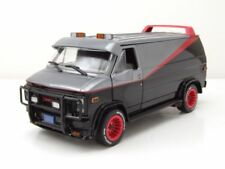 GMC Vandura A-Team Van 1983 TV-Serie grau schwarz Modellauto 1:24 Greenlight