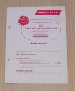 DAIMLER CONSORT Fitting Instructions Illustrated Guide HMV RADIO Feb 1952