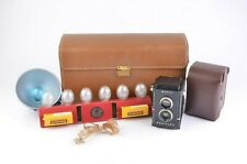 EXC+++ ANSCO REDIFLEX TLR CAMERA w/FITTED CASE, SHOULDER BAG, FLASH, GORGEOUS!!