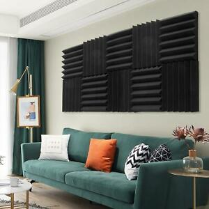 """48 Pack 2"""" x 12"""" x 12"""" Acoustic Foam Tiles Panel Wedge Studio Soundproofing Wall"""