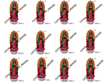 "Lot 12 pcs VIRGEN DE GUADALUPE OUR LADY OF GUADALUPE NEW 5"" INCH STATUE 2941-5"