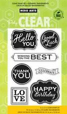 Hero Arts Clear Stamps - Hello You, Thank You, Wishing You The Best, Good Luck
