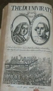 1767 THE POLITICAL REGISTER PLAN OF KEW 7 PLATES GEORGIAN POLITICAL SATIRE *